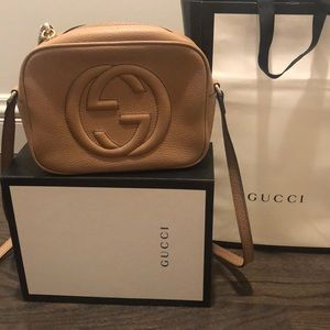 Gucci soho disco bag in rose beige
